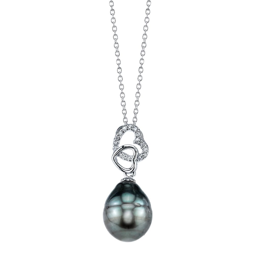 137-725 - Radiance Pearl Sterling Silver AAA Quality 10mm Baroque Tahitian South Sea Pearl Pendant