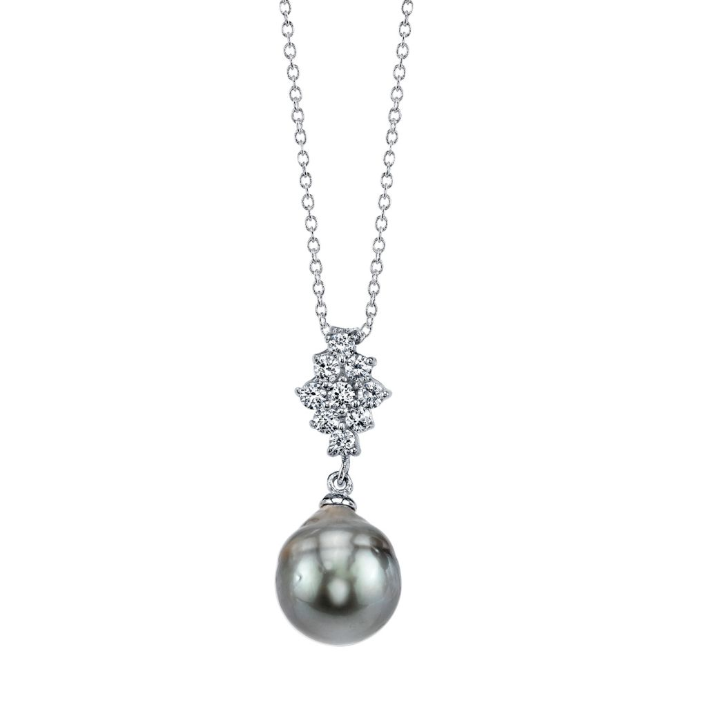 137-726 - Radiance Pearl Sterling Silver AAA Quality 9mm Baroque Tahitian South Sea Pearl Pendant