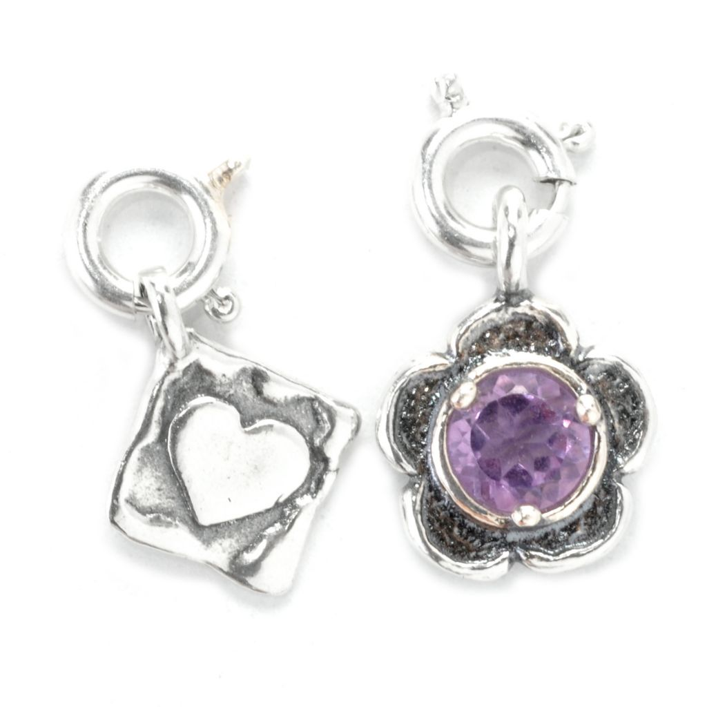 137-825 - Passage to Israel Set of Two Sterling Silver Gemstone Charms