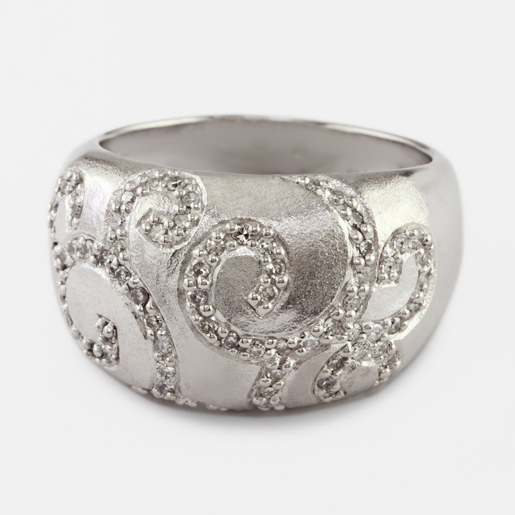 137-844 - Balissima by EFFY Sterling Silver 0.34ctw Diamond Swirl Ring- Size 7