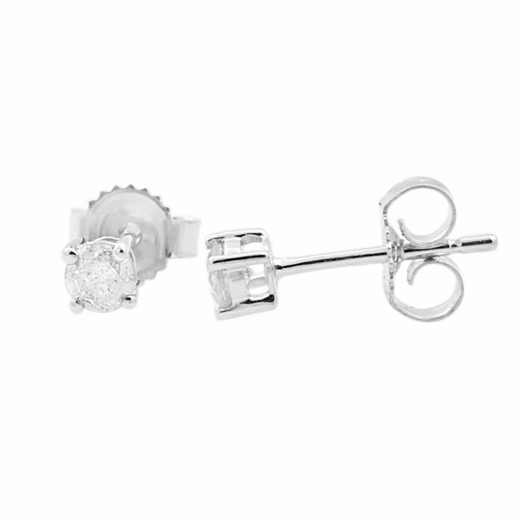 137-878 - 14K Gold 0.25ctw Round Diamond Stud Earrings