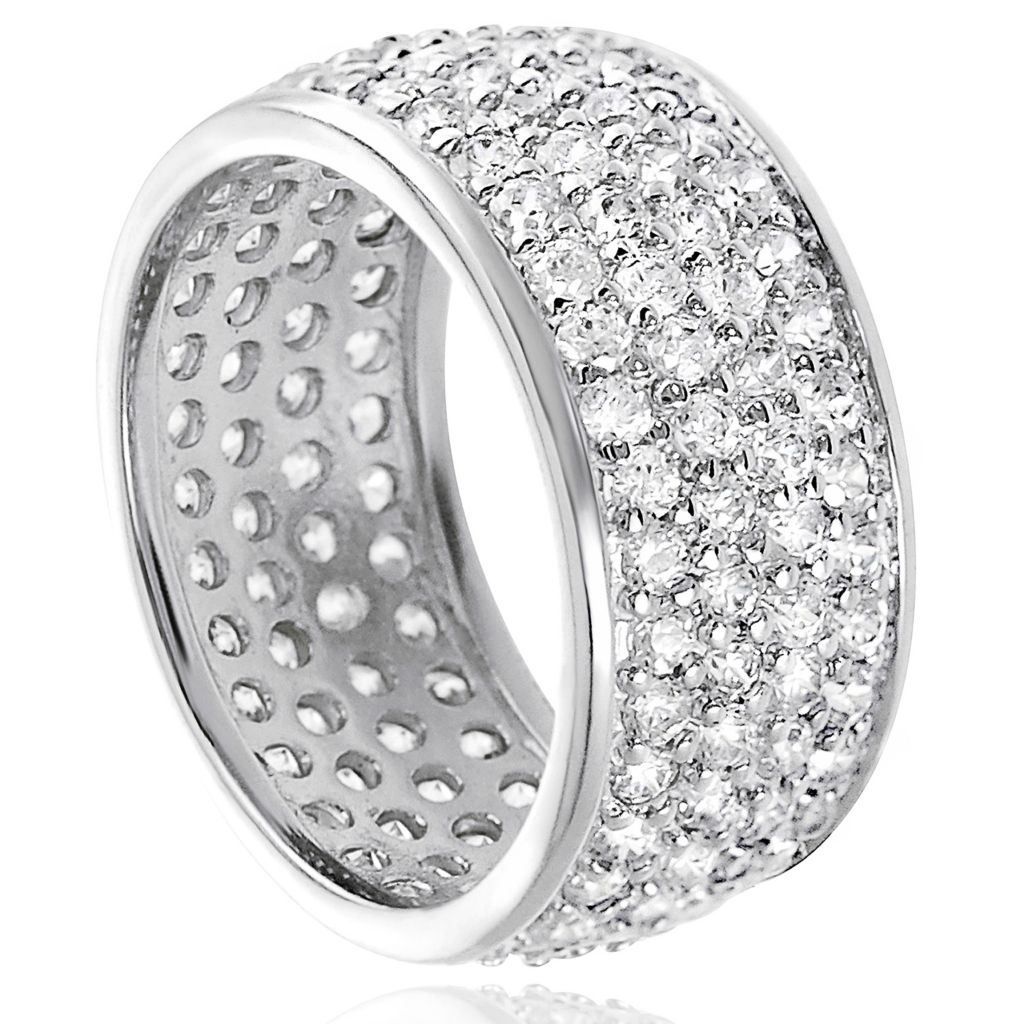 137-906 - Tressa Sterling Silver 2.72 DEW Simulated Diamond Bridal Style Pave Ring