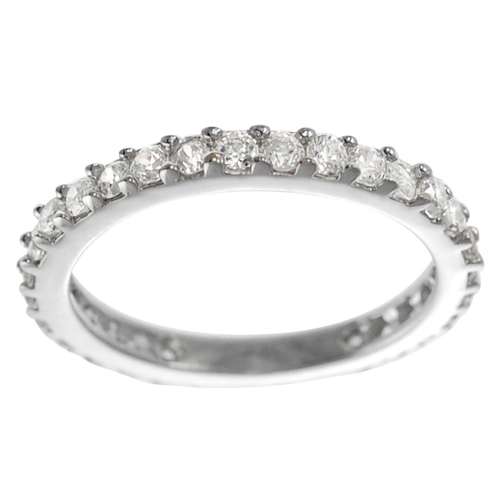 137-928 - Tressa Sterling Silver 0.9 DEW Simulated Diamond Vintage Style Ring