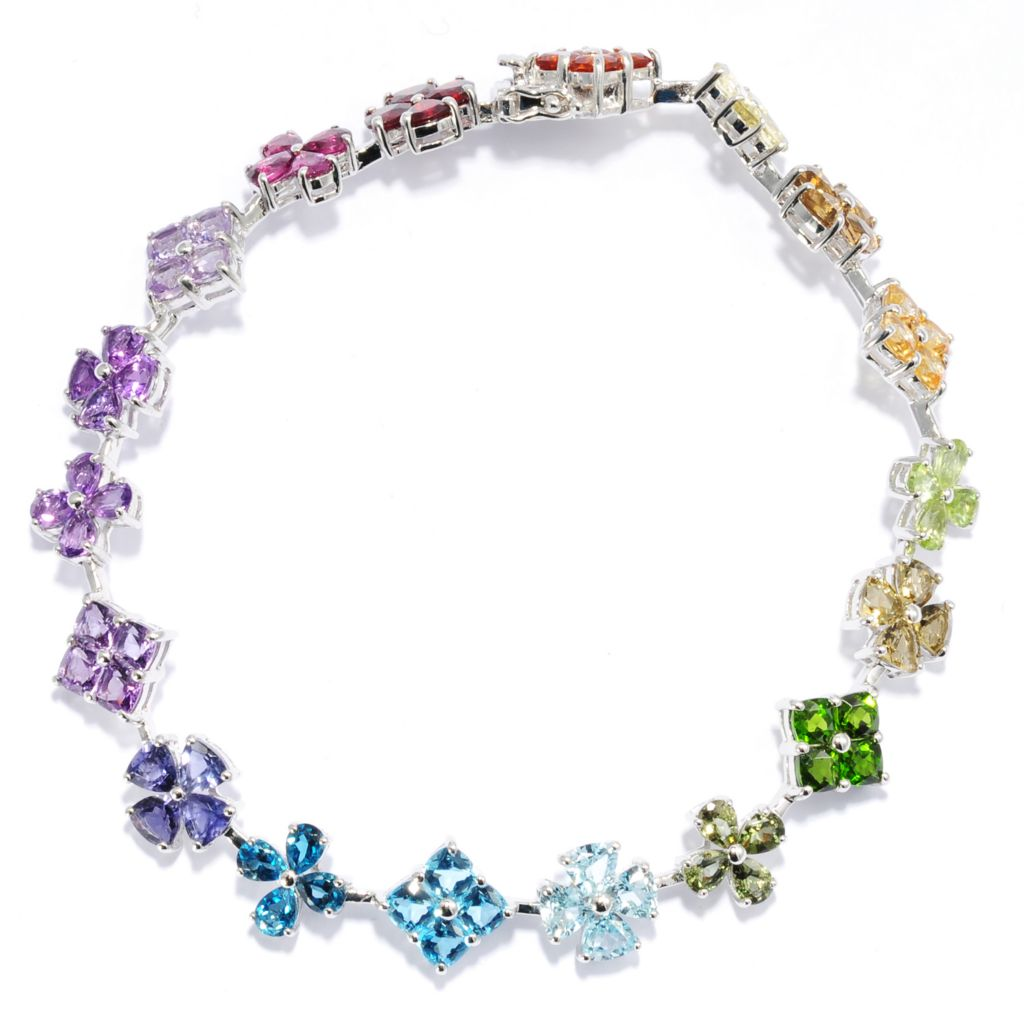 137-950 - NYC II Multi Color Gemstone Line Bracelet