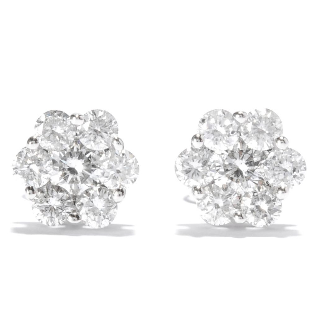 137-966 - Beverly Hills Elegance 14K White Gold 0.95ctw Diamond Stud Earrings