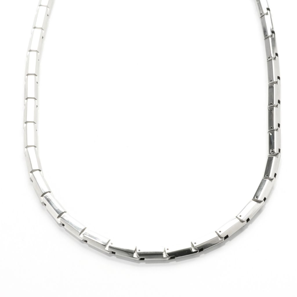 """138-088 - Steel Impact™ Men's Stainless Steel 20"""" Hexagon Link Necklace"""