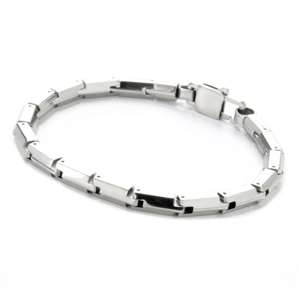 138-089 - Steel Impact™ Men's Stainless Steel Elongated Hexagon Link Bracelet
