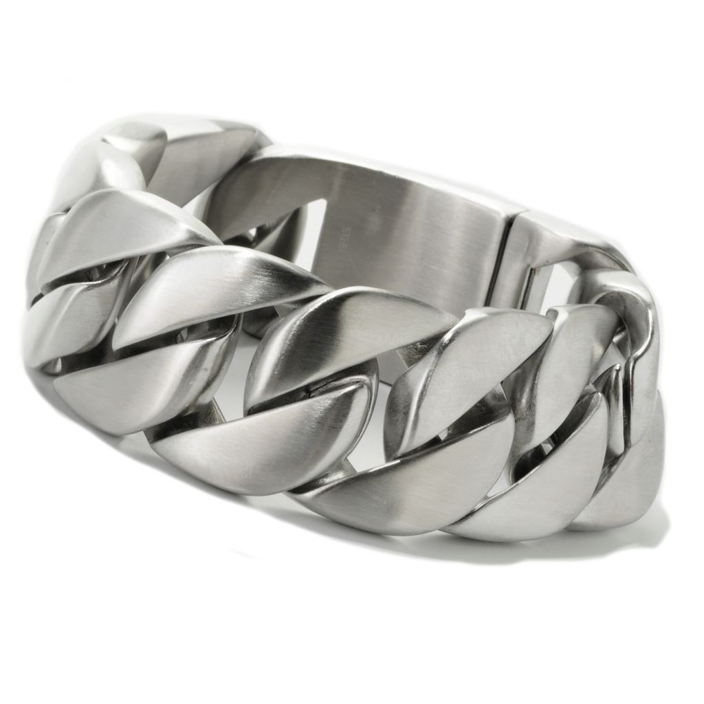 138-110 - Steel Impact Men's Stainless Steel Oversized Curb Link Bracelet