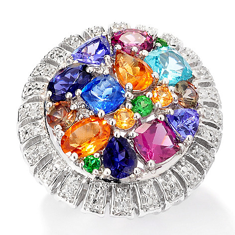 138-186 - NYC II™ 4.52ctw ''The Ites'' Multi Gemstone Ring