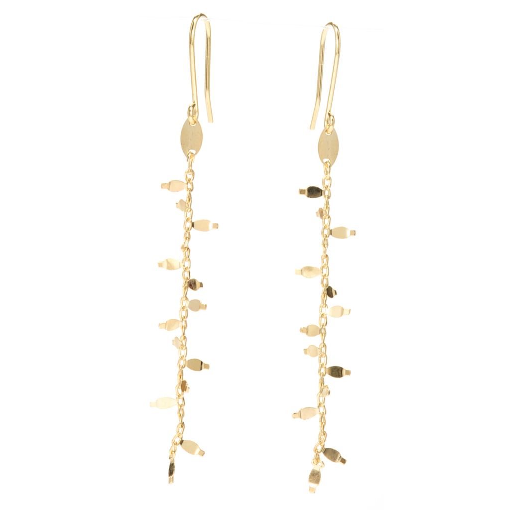 "138-202 - Italian Designs with Stefano 14K Gold 2.25"" Polished Primavera Dangle Earrings"