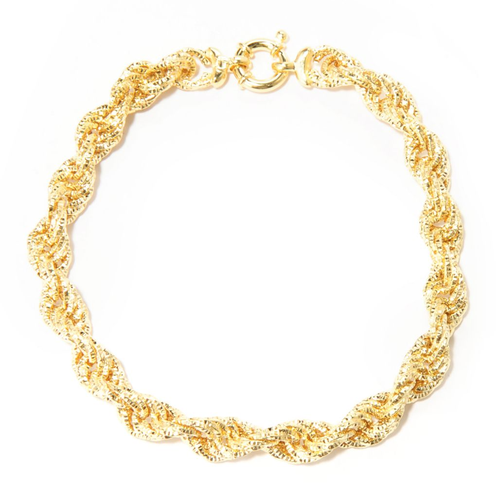 "138-208 - Italian Designs with Stefano 14K Gold 7.75"" Twisted Bracelet, 4.56 grams"