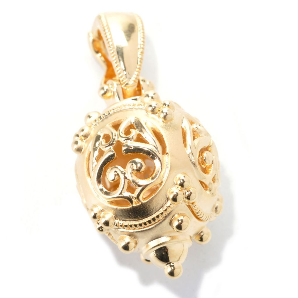 138-261 - Jaipur Bazaar 18K Gold Embraced™ Satin Finished Bali Ornament Enhancer Charm