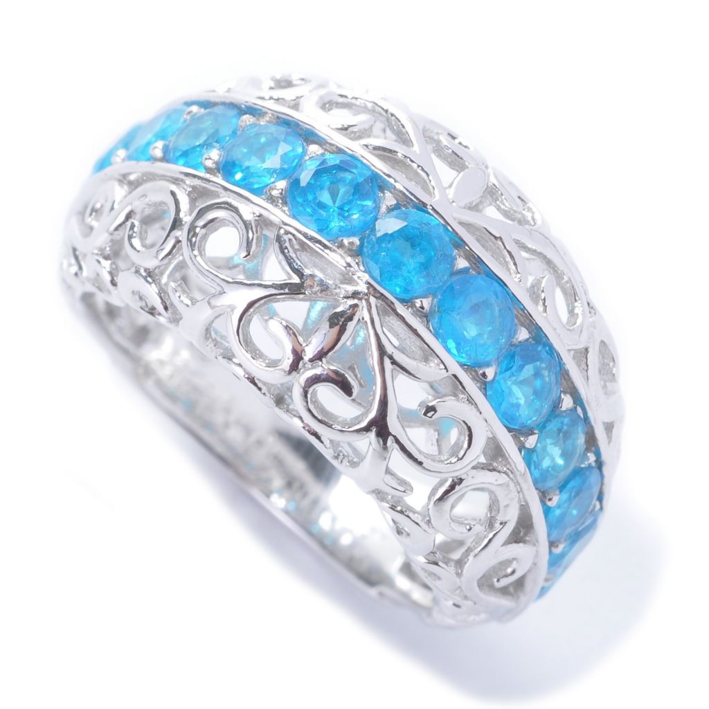 138-263 - Dallas Prince Sterling Silver Exotic Gemstone Filigree Dome Ring