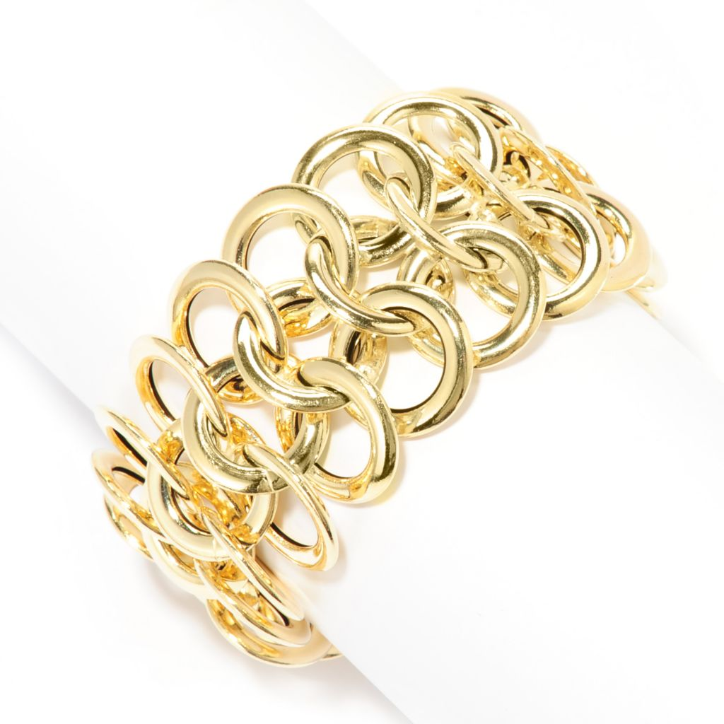"138-319 - Italian Designs with Stefano 7.75"" 14K Gold Circle Link Bracelet, 31.35 grams"