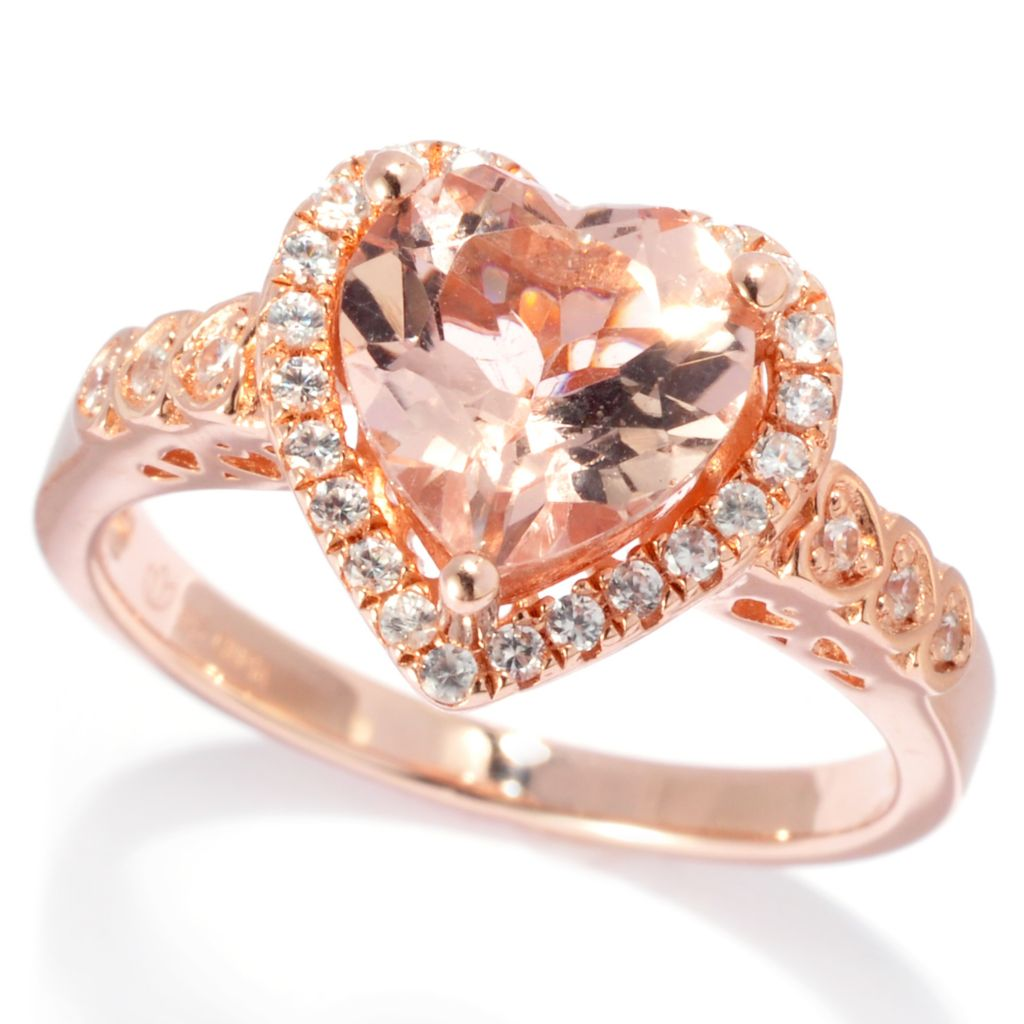 138-328 - NYC II 2.32ctw Morganite & White Zircon Heart Ring