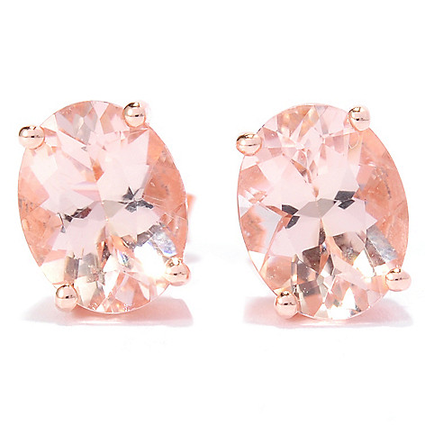 138-331 - NYC II™ 2.40ctw Oval Morganite Stud Earrings