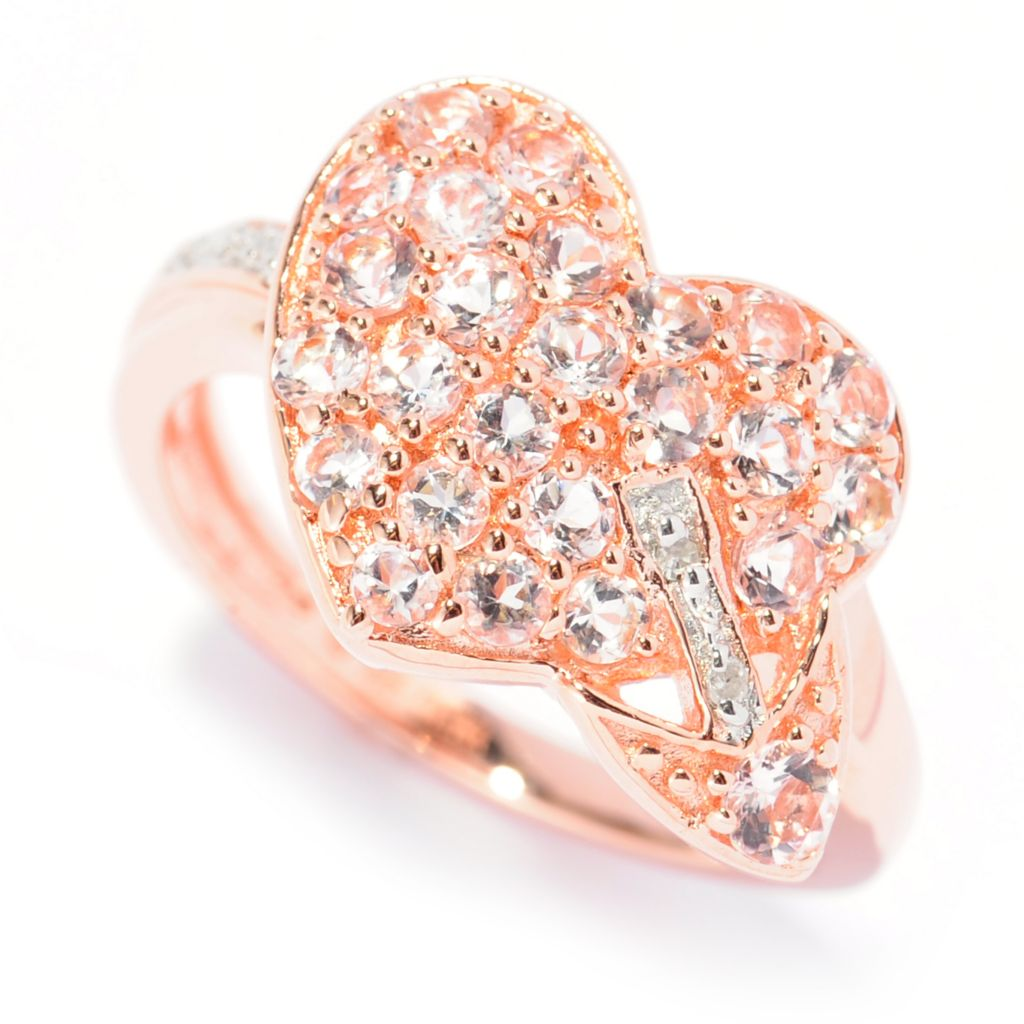 138-502 - NYC II Round Morganite & Diamond Heart & Arrow Ring
