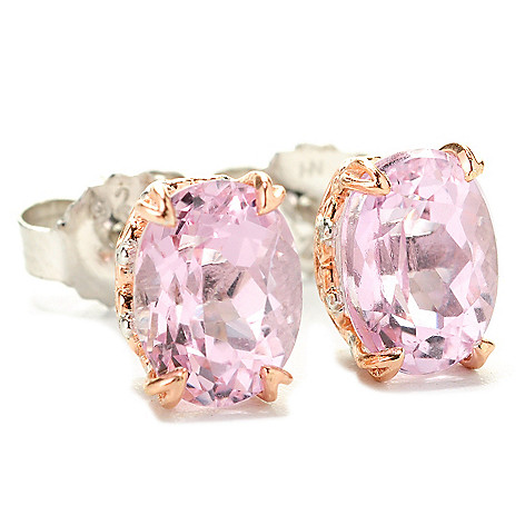 138-512 - Gems en Vogue 3.00ctw Oval Kunzite Stud Earrings