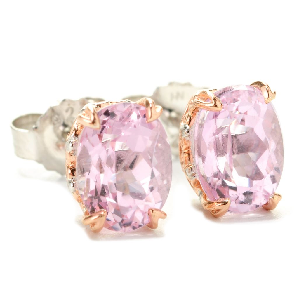 138-512 - Gems en Vogue II 3.00ctw Oval Kunzite Stud Earrings