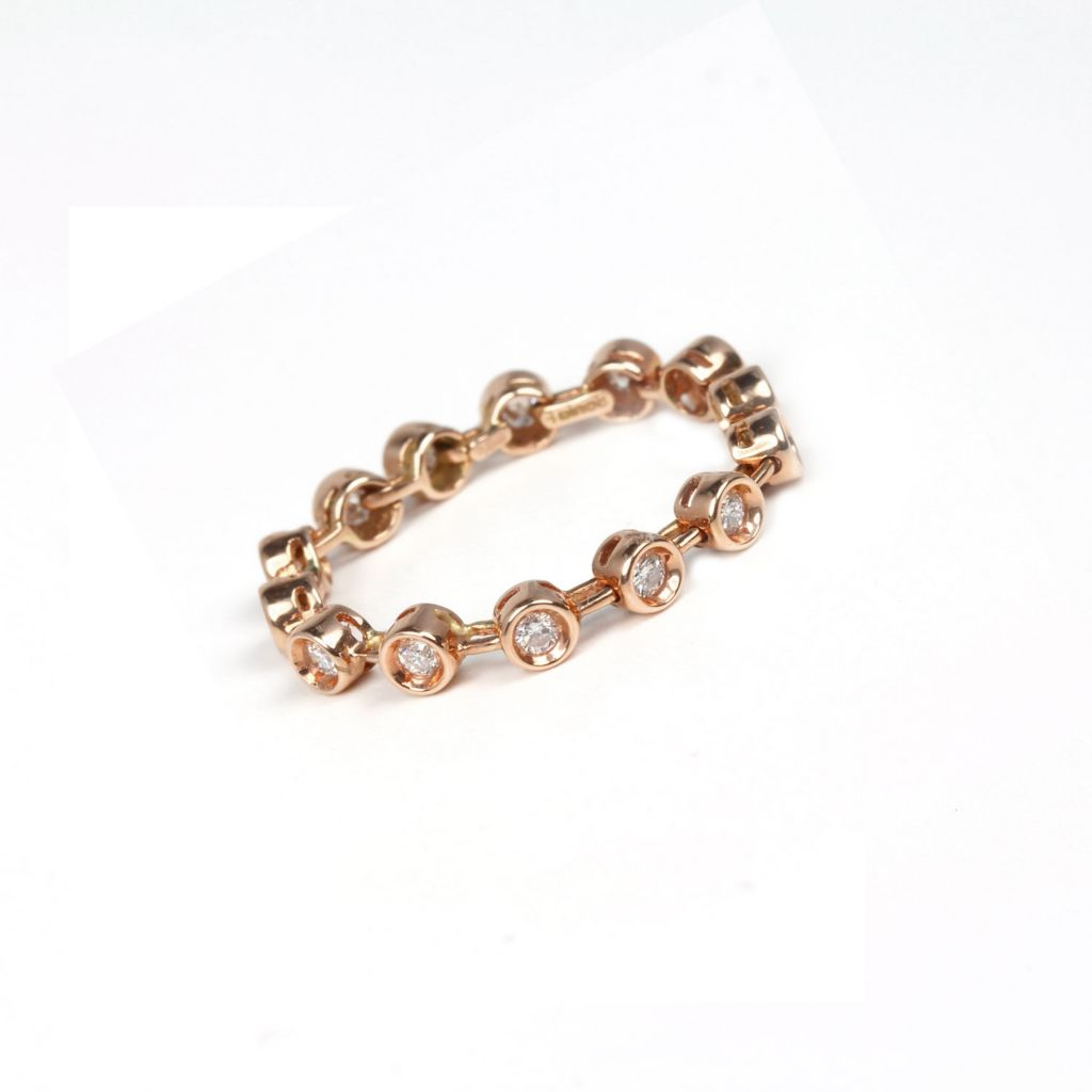 138-537 - Sonia Bitton Galerie de Bijoux 14K Rose Gold 0.34ctw Diamond Dream Fit™ Stackable Band Ring