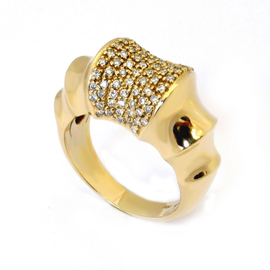 138-555 - Sonia Bitton Galerie de Bijoux 14K Gold 0.54ctw Diamond Scalloped Ring