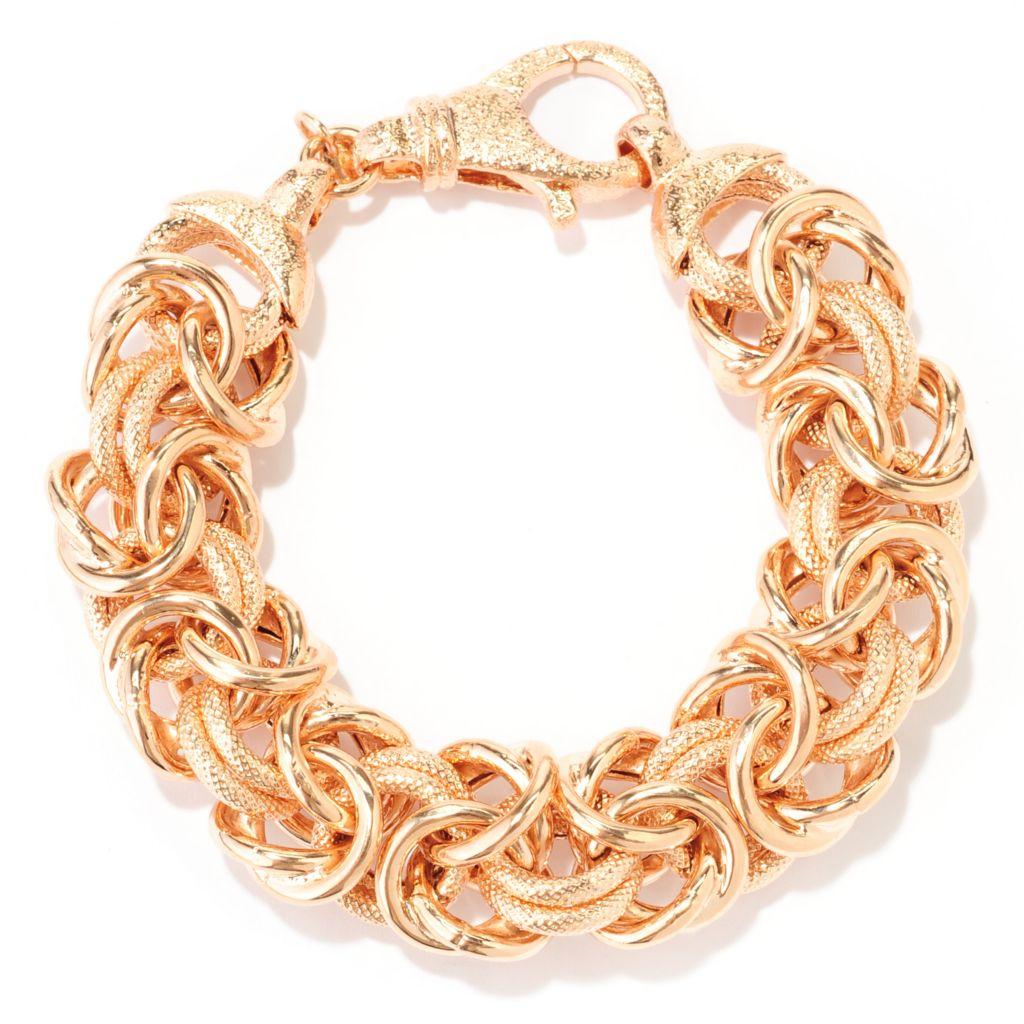 138-634 - Toscana Italiana 18K Gold Embraced™ Handmade Byzantine Bracelet