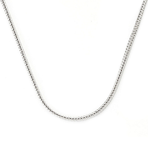 138-643 - Gems en Vogue 24'' Wheat Chain Necklace w/ Twist-off Magnetic Clasp