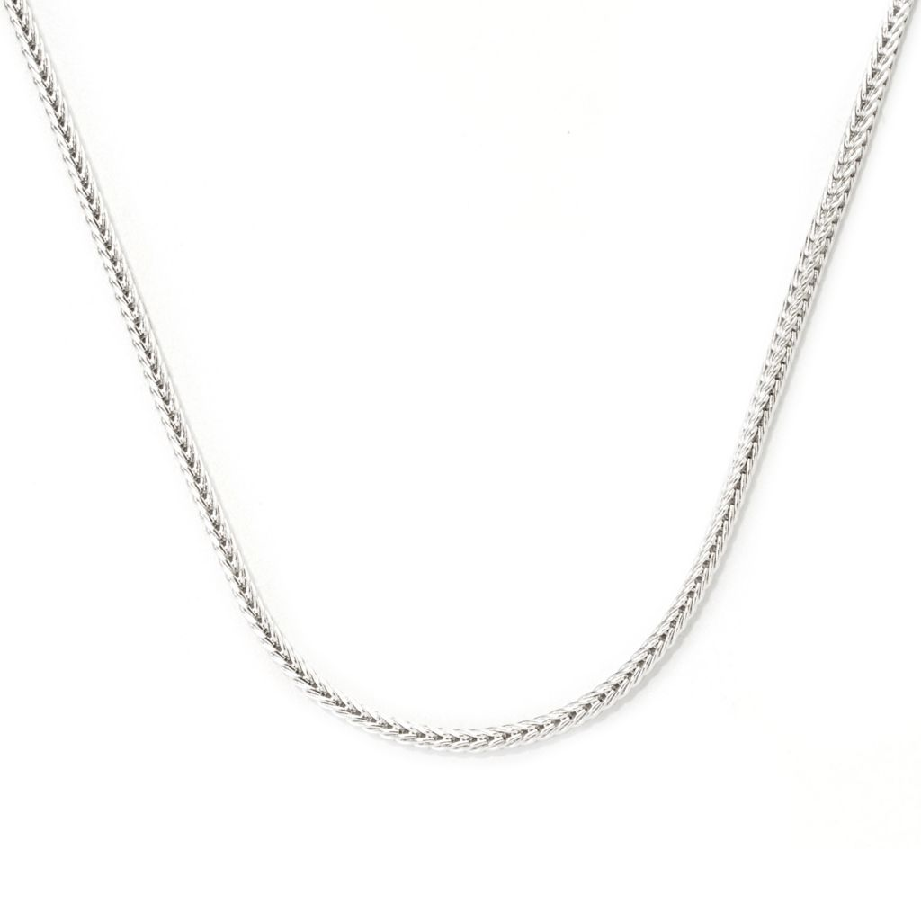 "138-643 - Gems en Vogue II 24"" Wheat Chain Necklace w/ Twist-off Magnetic Clasp"