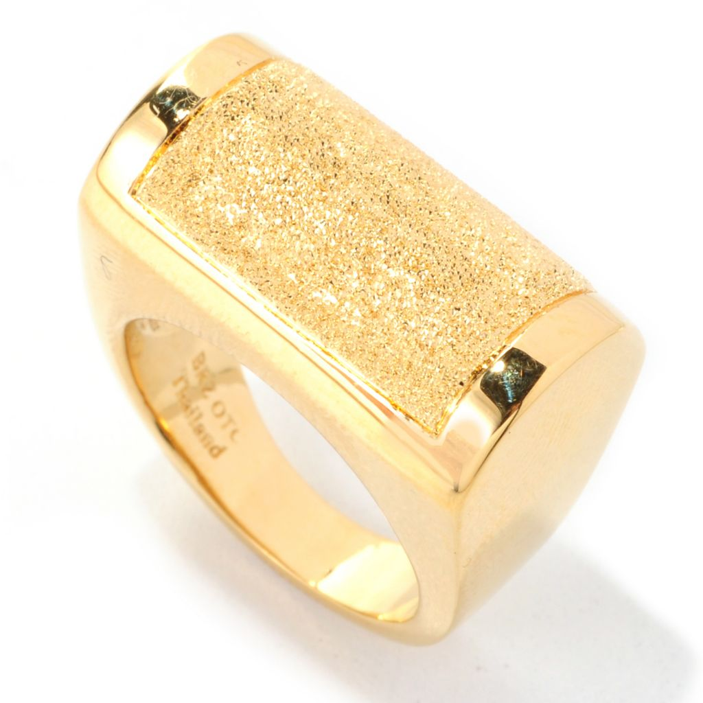 138-682 - Dettaglio™ 18K Gold Embraced™ High Polished & Textured Euro Top Ring
