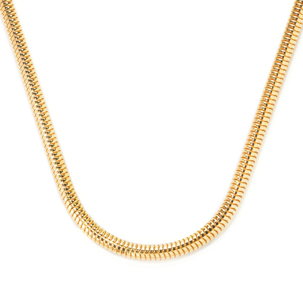 "138-704 - Dettaglio™ 18K Gold Embraced™ 20"" Polished Snake Chain Necklace"