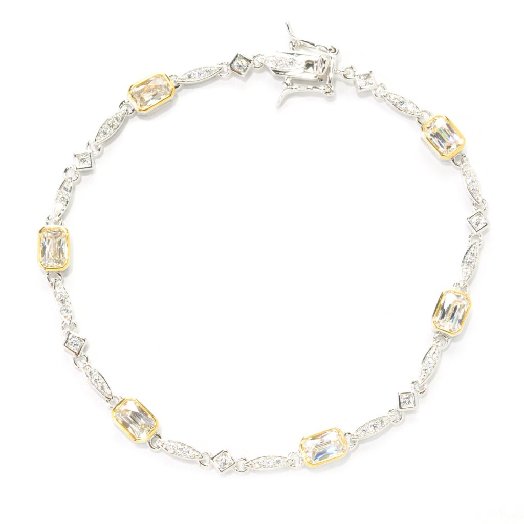 138-731 - TYCOON Two-tone TYCOON CUT Simulated Diamond Link Bracelet