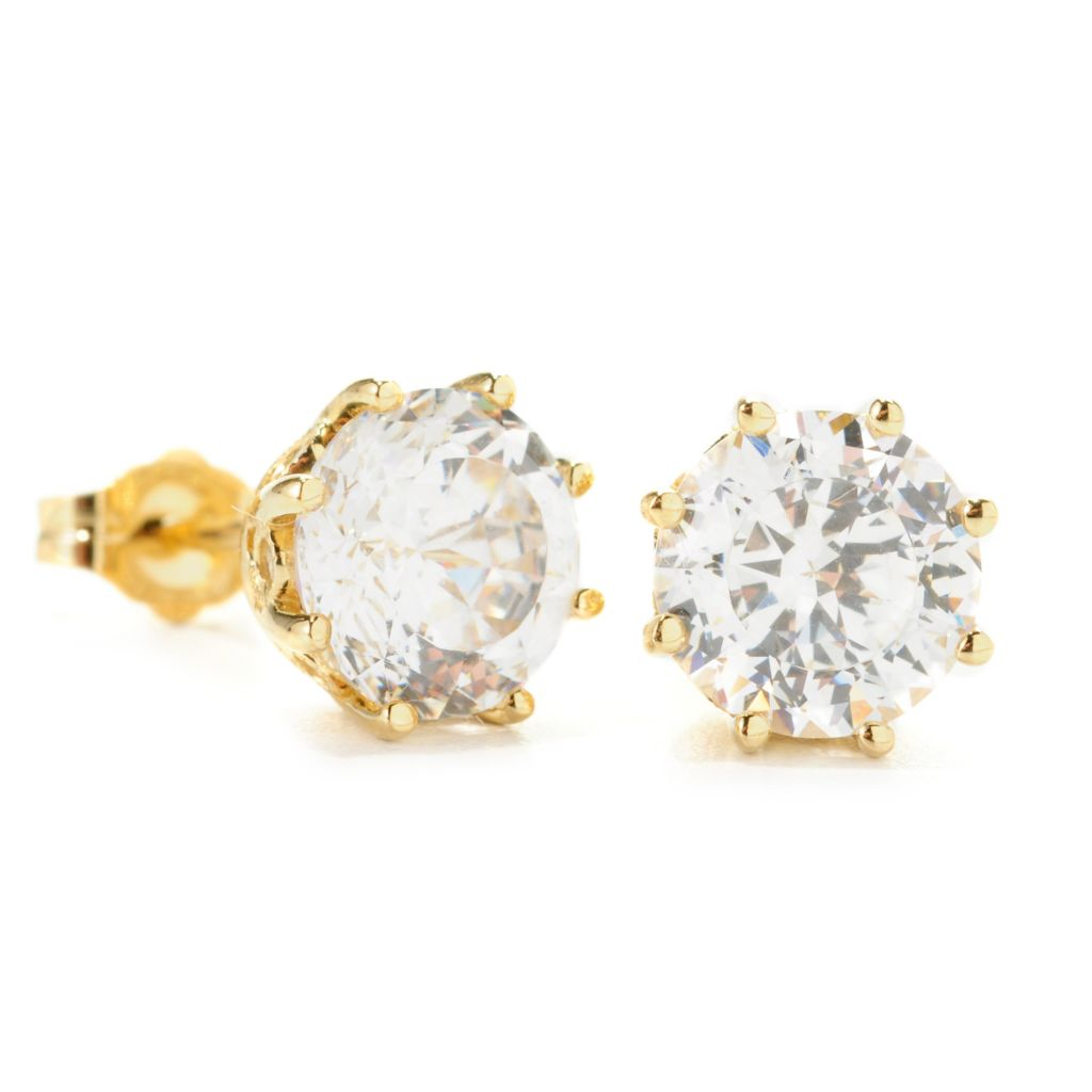 138-737 - Brilliante® 4.32 DEW Brilliant & 100-Facet Cut Simulated Diamond Stud Earrings