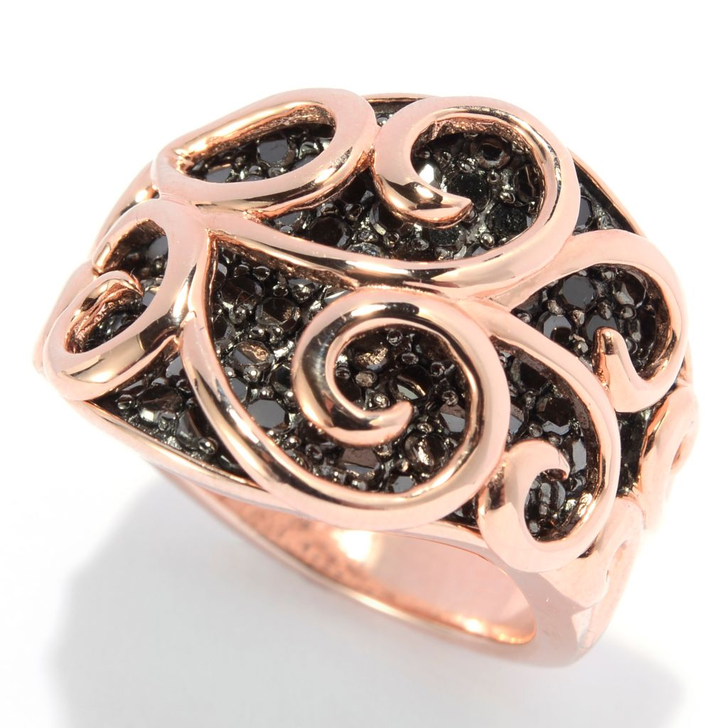 138-781 - Diamond Treasures 14K Rose Gold Embraced™ 1.00ctw Diamond Overlay Ring