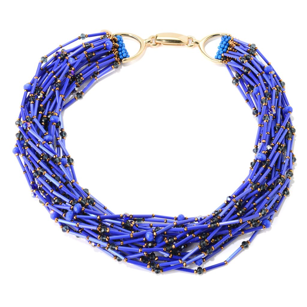 "138-804 - RUSH 24"" Glass Beaded Multi Strand Nested Necklace"