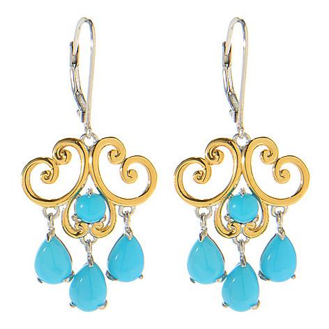138-831 - Gems en Vogue 1.5'' Sleeping Beauty Turquoise Dangle Earrings