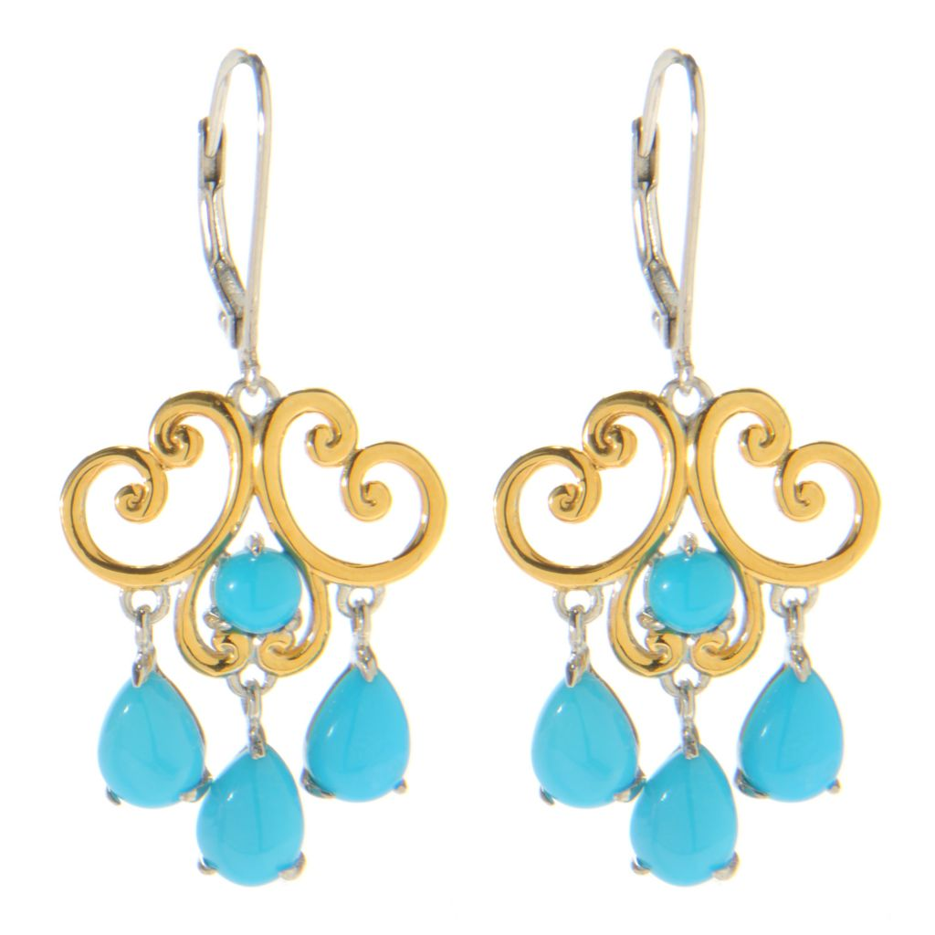 "138-831 - Gems en Vogue II 1.5"" Sleeping Beauty Turquoise Dangle Earrings"