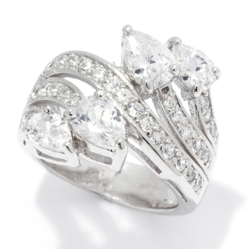 138-841 - Brilliante® Platinum Embraced™ 2.77 DEW Simulated Diamond Swirl Band Ring
