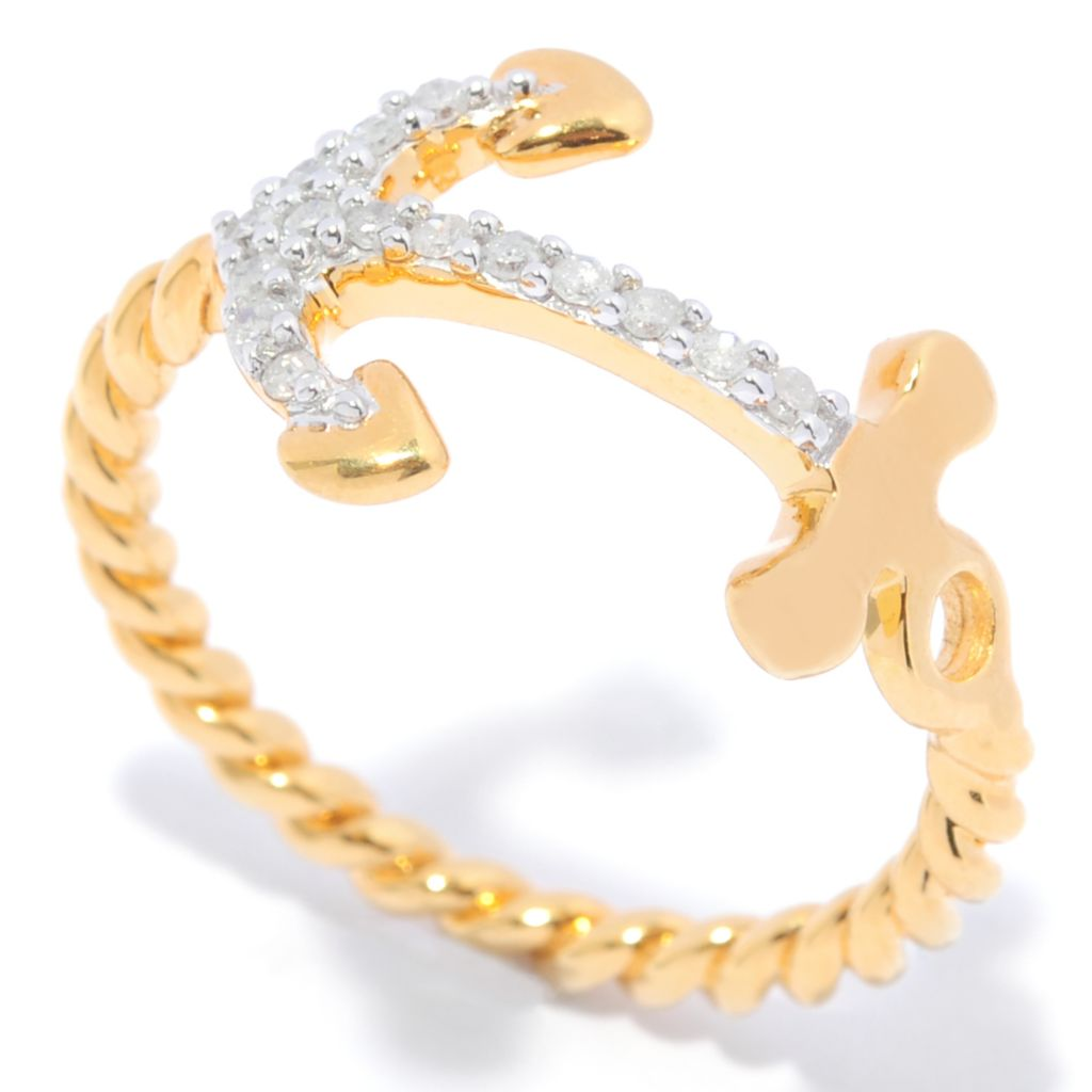 138-867 - Diamond Treasures 14K Gold Embraced™ Diamond Inspirational Twisted Band Ring
