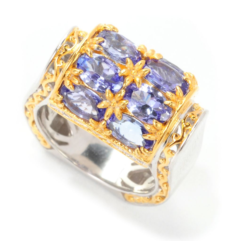 138-886 - Gems en Vogue II 3.44ctw Oval Tanzanite Barrel Top Polished Ring