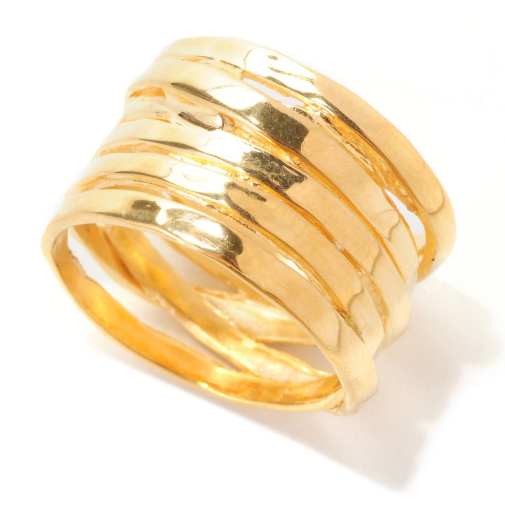 138-909 - Toscana Italiana 18K Gold Embraced™ Polished Freeform Wrap Band Ring