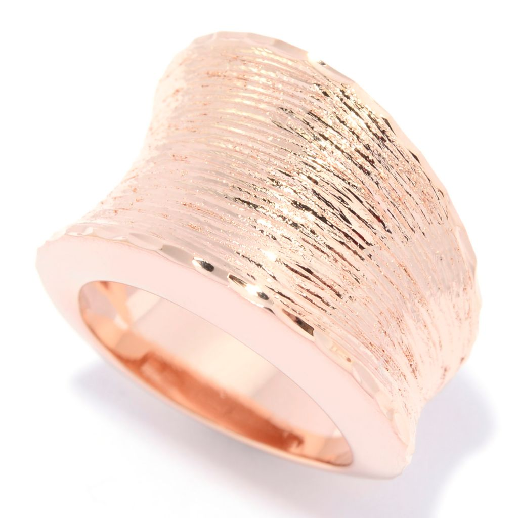 138-910 - Toscana Italiana 18K Gold Embraced™ Polished & Brushed Wide Band Ring