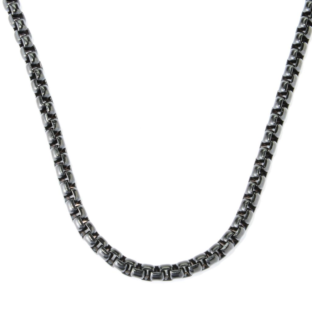 """138-921 - Steel Impact™ Men's Stainless Steel 24"""" Box Link Chain Necklace"""