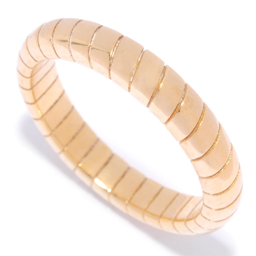138-979 - Portofino 18K Gold Embraced™ High Polished Ribbed Band Ring