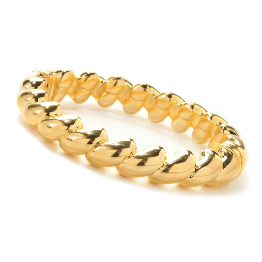 138-987 - Portofino 18K Gold Embraced™ High Polished San Marco Link Bangle Bracelet