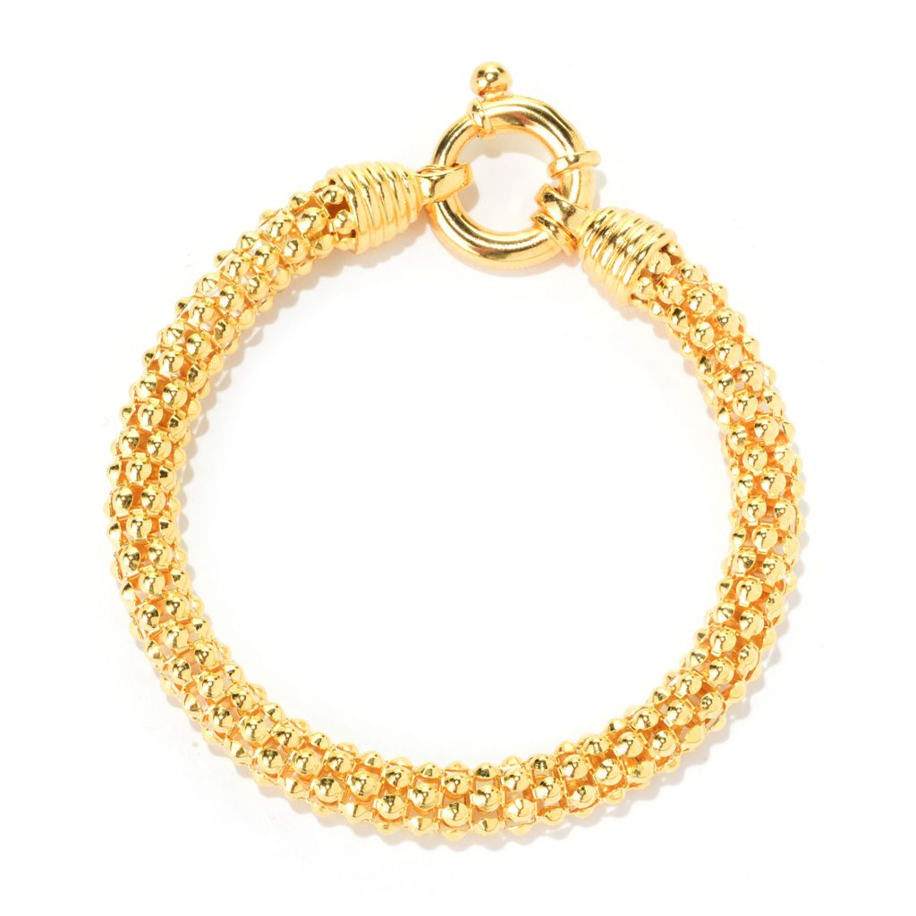 138-988 - Portofino 18K Gold Embraced™ Polished Coreana Chain Bracelet