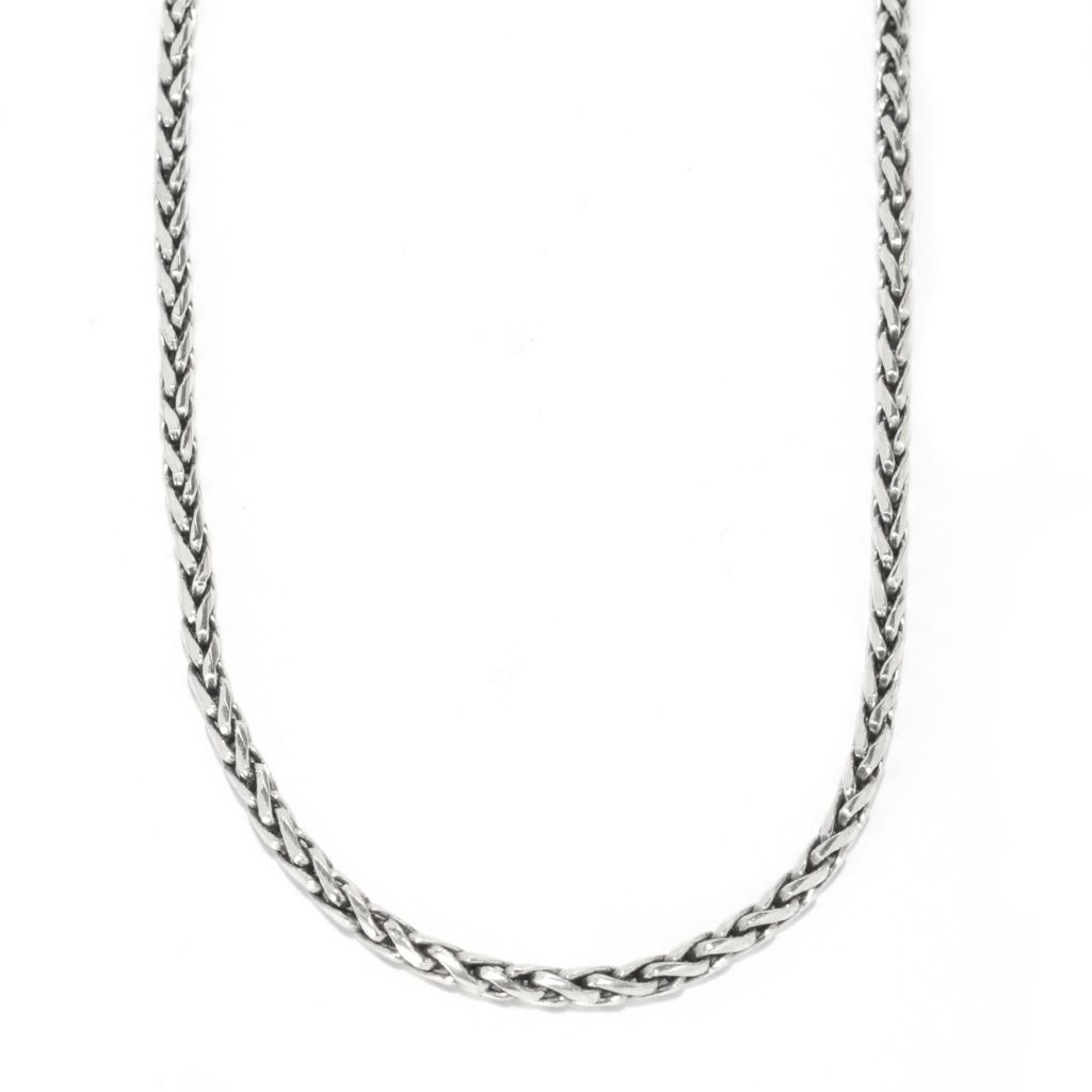 139-032 - Artisan Silver by Samuel B. Oxidized Wheat Chain Necklace