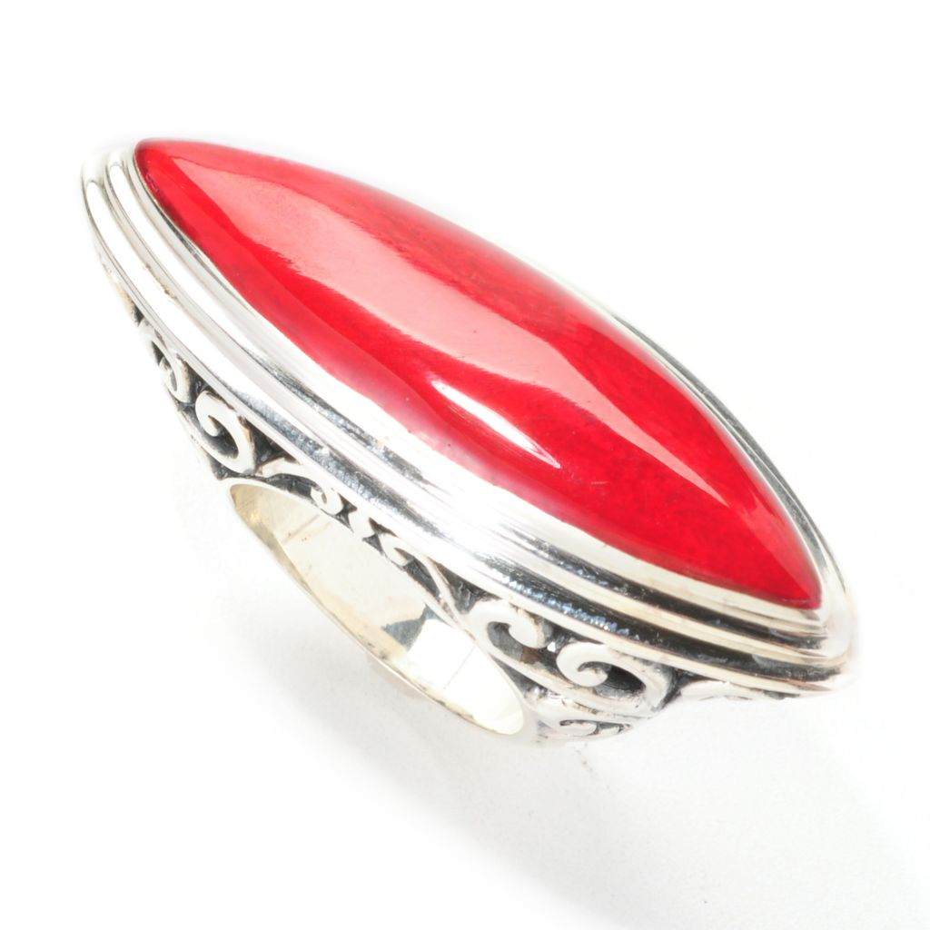 139-049 - Artisan Silver by Samuel B. 40 x 10mm Marquise Gemstone East-West Ring