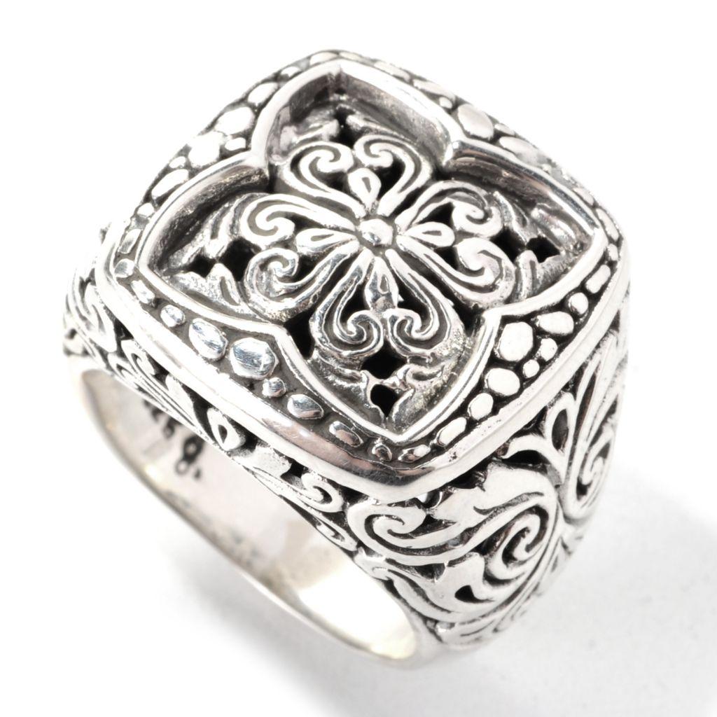 139-057 - Artisan Silver by Samuel B. Openwork Balinese-Style Floral Swirl Ring