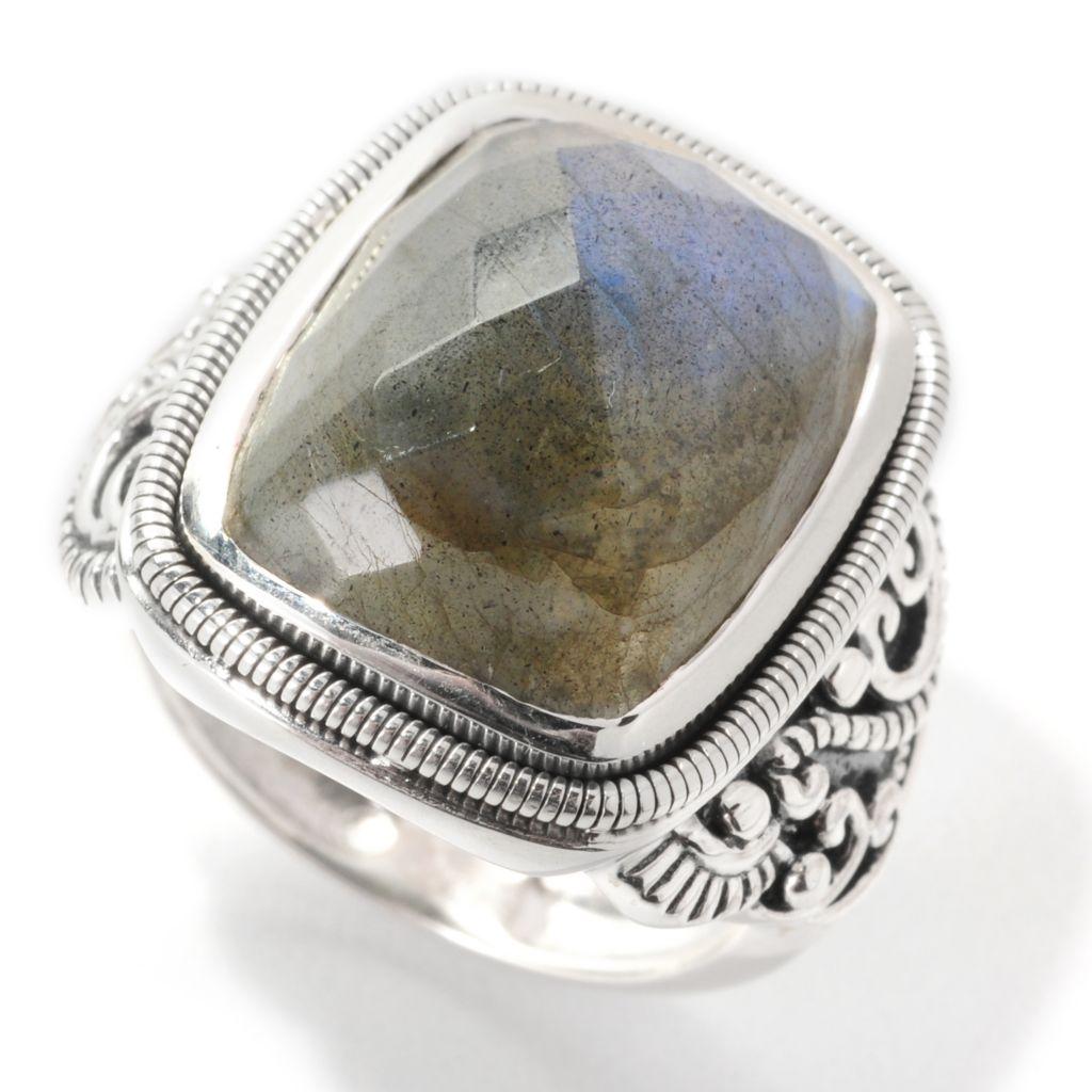 139-063 - Artisan Silver by Samuel B. 16 x 12mm Labradorite Swirl Ring