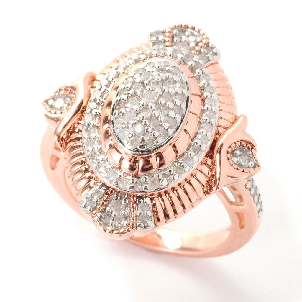 139-071 - Diamond Treasures 0.49ctw Fancy Color Diamond Multi Level Marquise Ring
